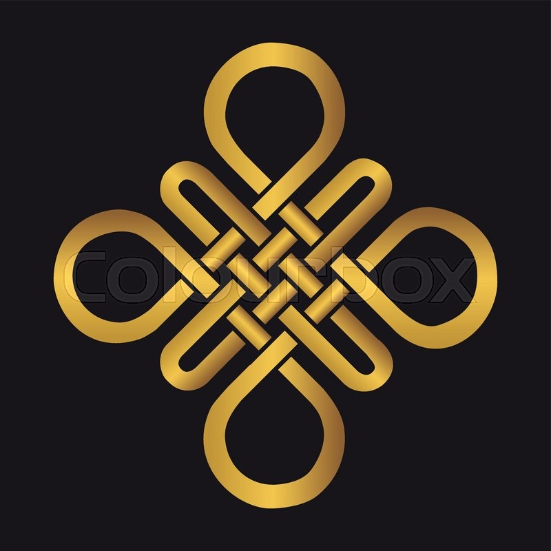 Endless Auspicious Knot Chinatibet Eternal Buddhism And