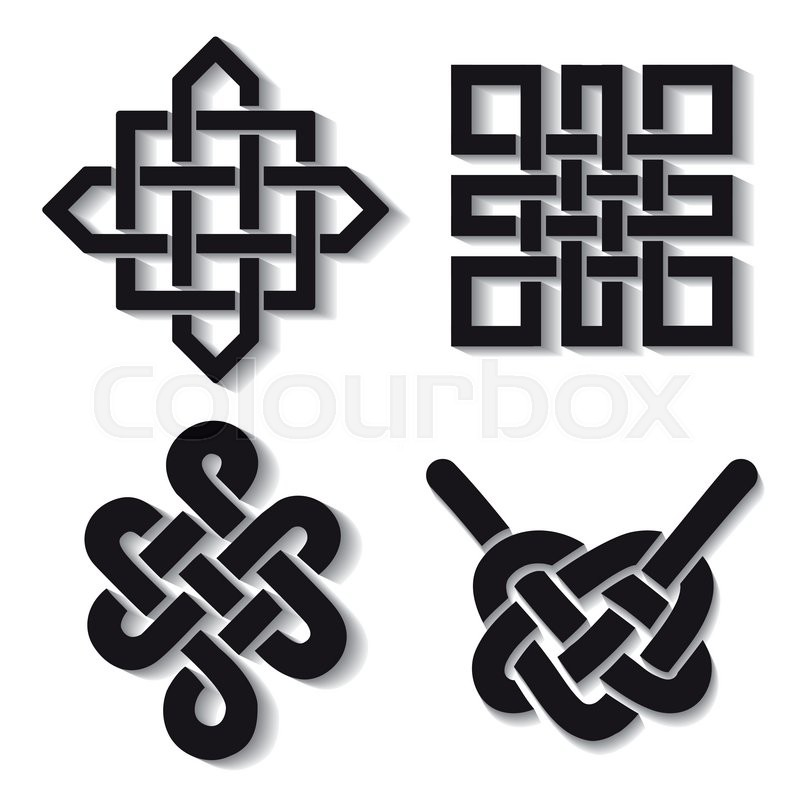 Endless Auspicious Knot Set Chinatibet Eternal Buddhism And