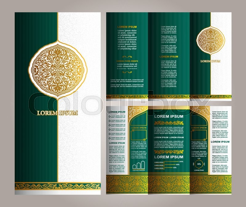 Vintage Islamic Style Brochure And Flyer Design Template