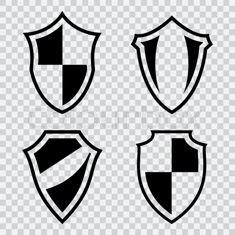 set of shield icons vector emblems templates for design stock
