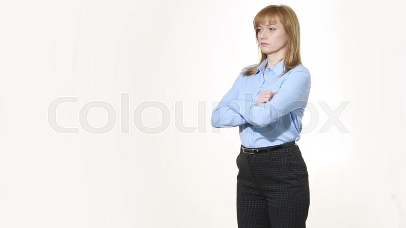 Woman gestures and body language
