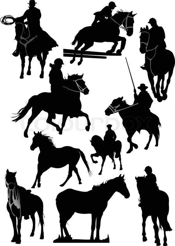 Quot Horse Silhouette Rodeo Quot Vector Colourbox
