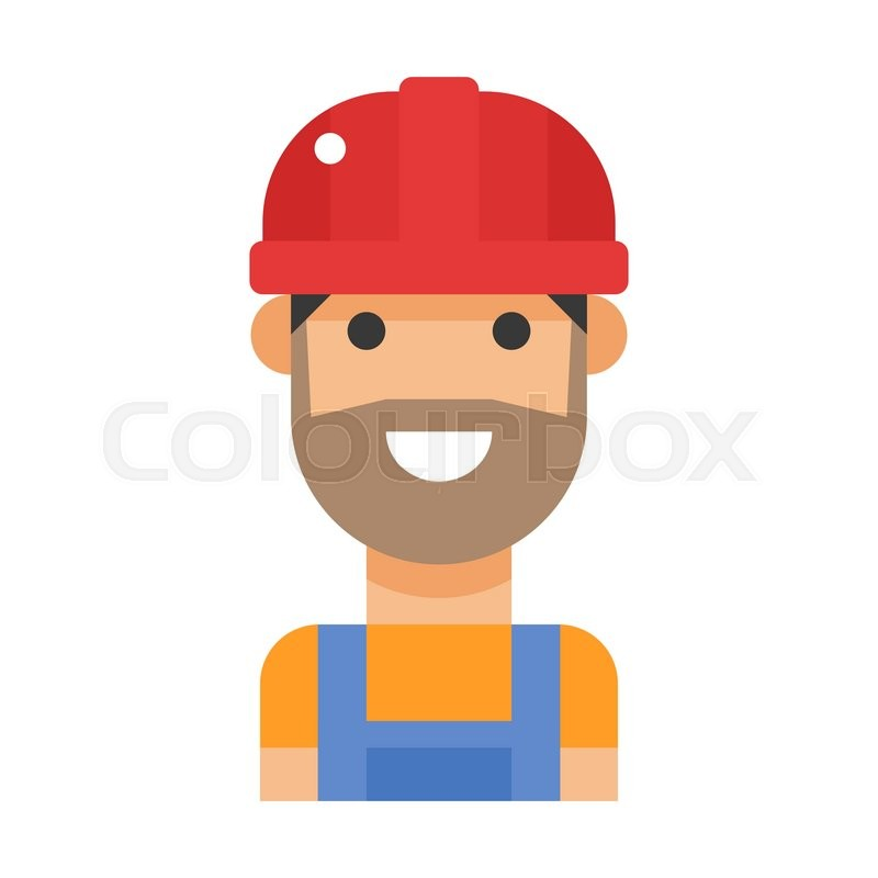 cartoon vector worker character face  worker cartoon