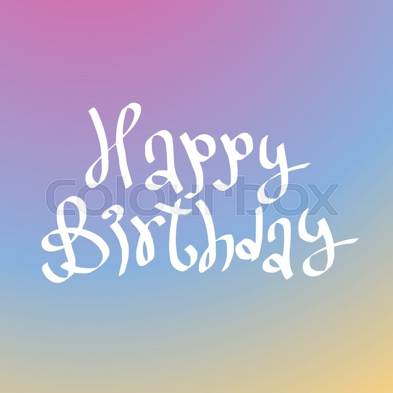 Happy Birthday Card Illustration Background Design Invitation Poster Party