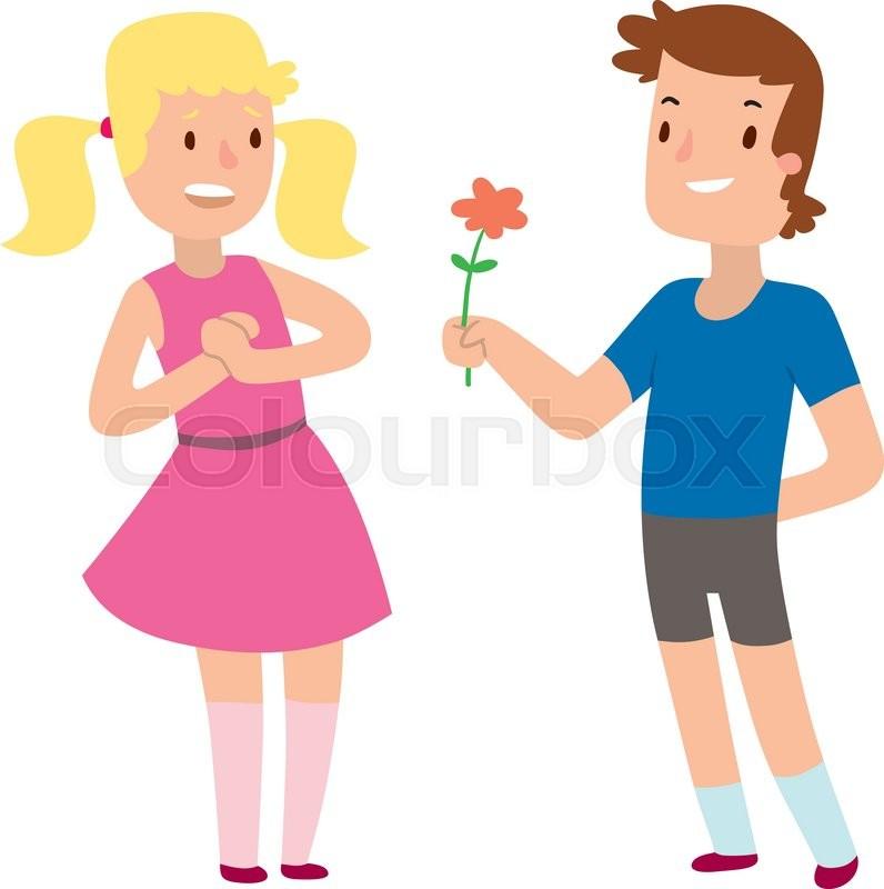 Loving Couples Holding Hands Cartoon