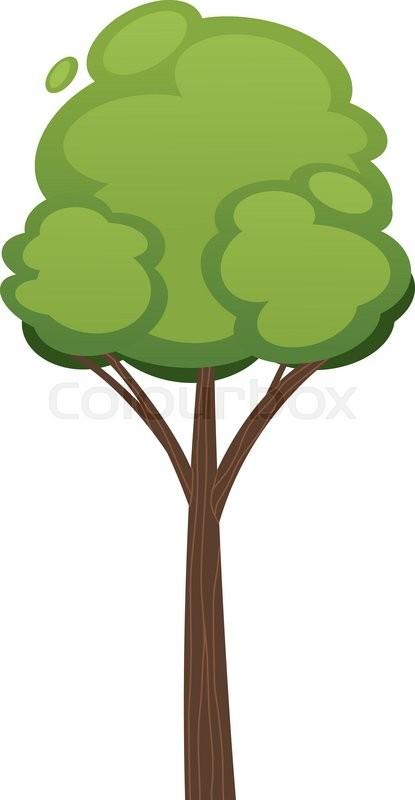 Cartoon tree vector illustration. ... | Stock Vector ...