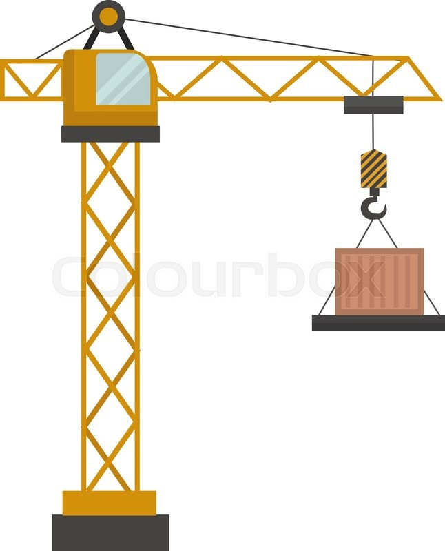 construction crane vector illustration construction crane isolated rh colourbox com construction vector icons construction vector icons