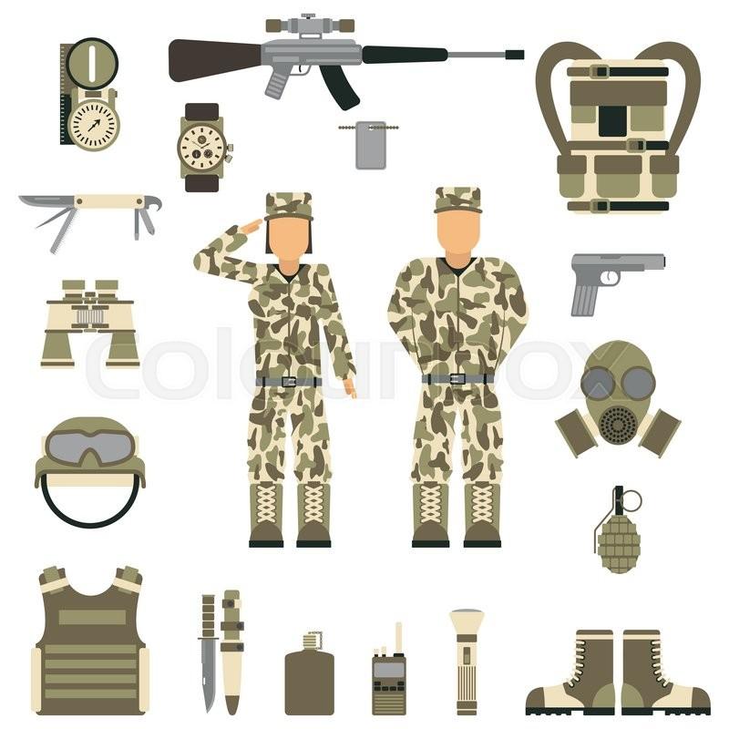Military symbols vector illustration      | Stock vector | Colourbox