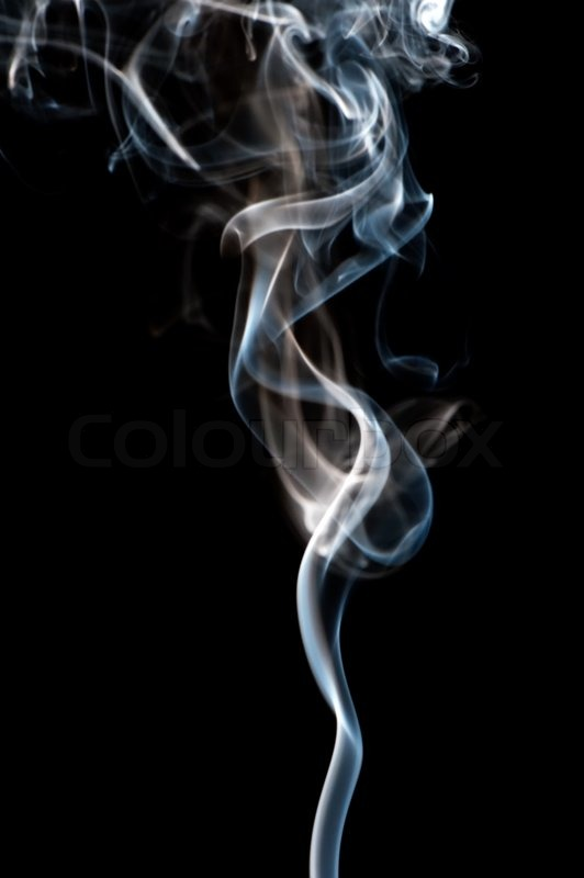 Smoke. The abstract image of a smoke on a black background ...