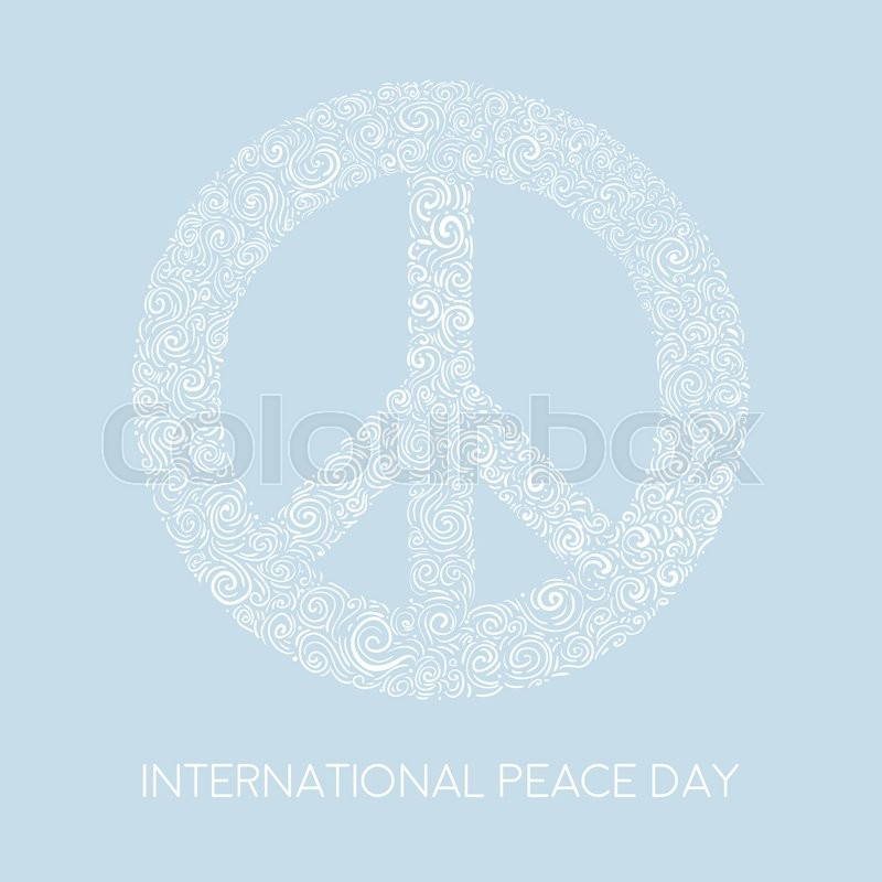 Vector illustration of peace sign on blue background template for stock vector of vector illustration of peace sign on blue background template for international maxwellsz