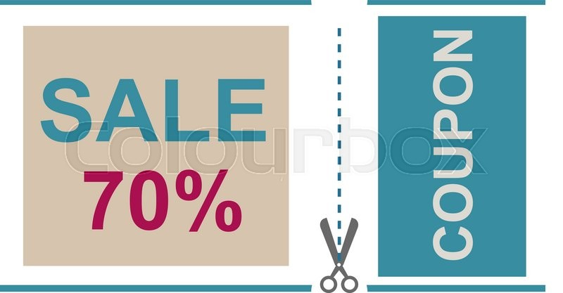 Sale Coupon vector. Gift voucher certificate sale coupon template ...