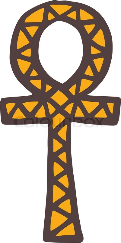 Egypt Symbols Vector Ankh Hieroglyph Also Known As Key Of Life