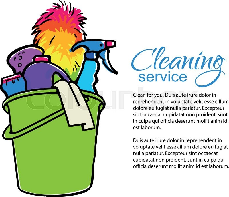 Cleaning Services Hand Drawn Spray And Dust Collector
