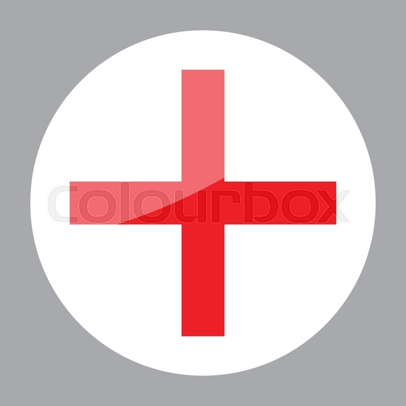Sign red cross hospital clinic symbol. Cross, red cross ...