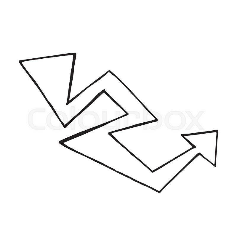 hand drawn arrow vector doodle design element signpost stock