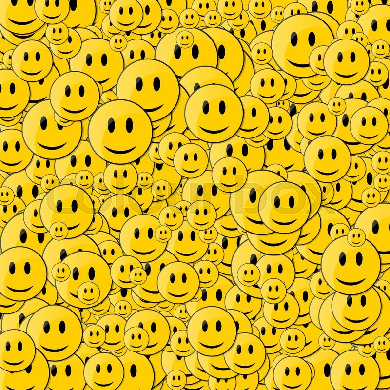 Faces With Smile Happy Face Background Smileys In Motion