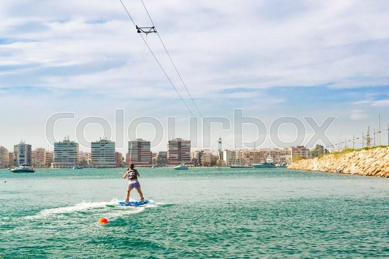 Torrevieja spain september 13 2014 cute girl learns - Z yachting torrevieja ...