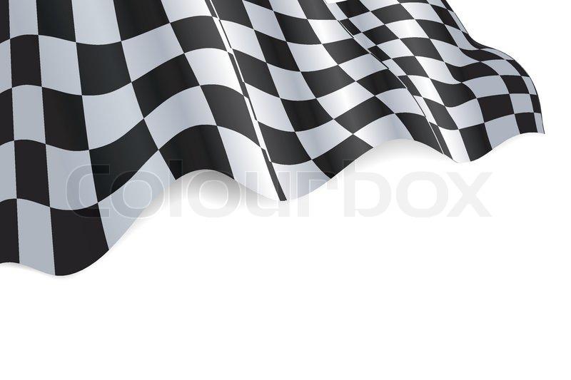 Checkered Black And White Flag Stock Vector Colourbox