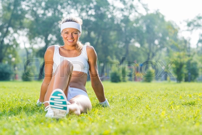 Stock Bild von 'kaukasisch, work-out, workout'