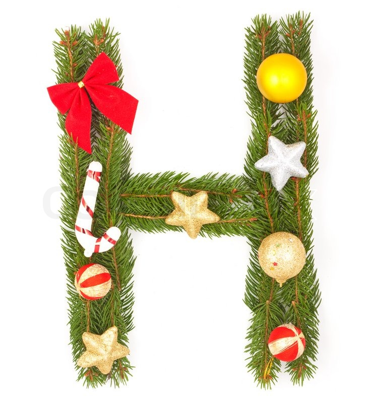 Alphabet Christmas Decorations