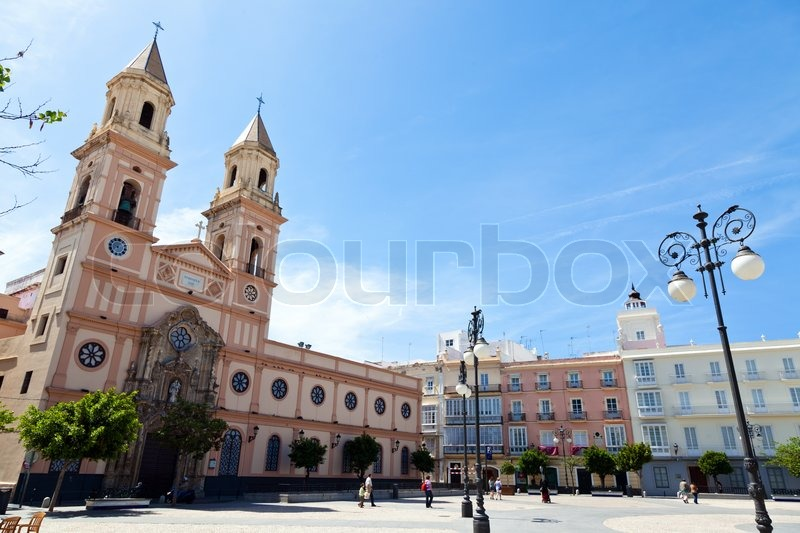 The city of Cadiz in Andalusia, Spain. Spain\'s oldest settlement, stock photo