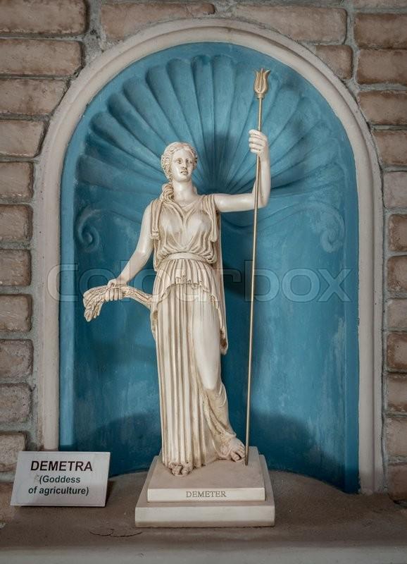 Demeter the ancient Greek goddess of harvest | Stock Photo ...