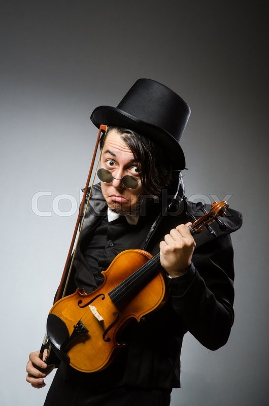 Man in musical art concept, stock photo
