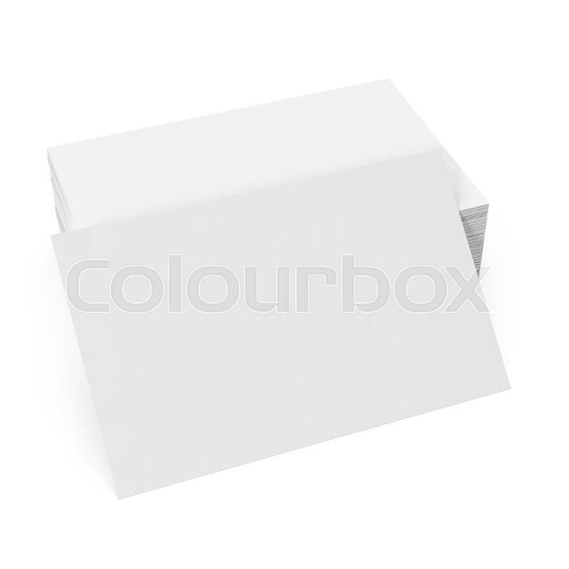 Stack white business card mockup on white background 3d stack white business card mockup on white background 3d illustration stock photo colourbox colourmoves