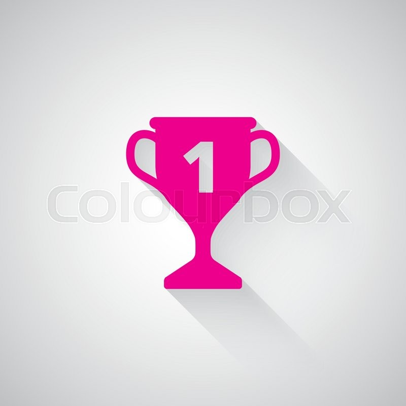 pink trophy web icon on light grey background stock vector colourbox