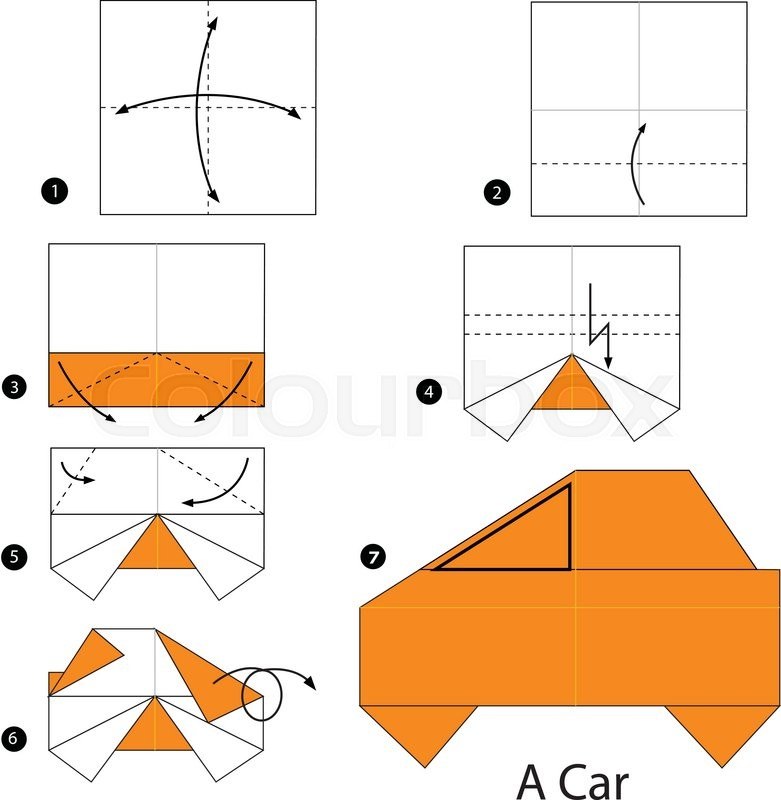 Step By Instructions How To Make Origami A Car