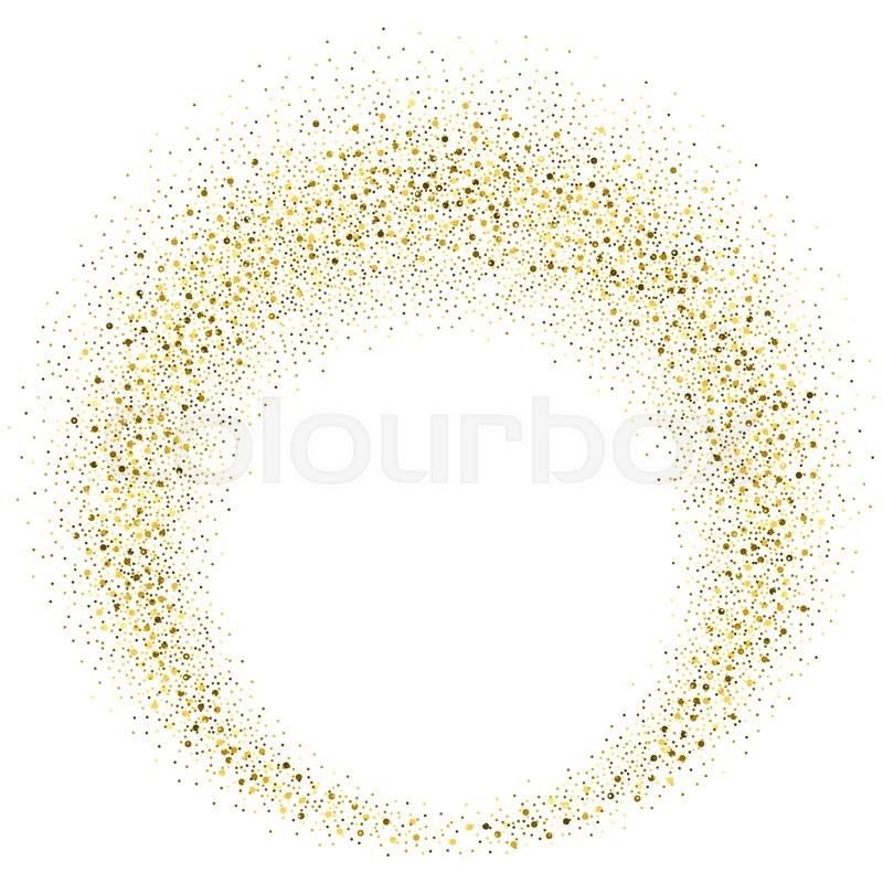 Vector Gold Glitter Circle Abstract Stock Vector