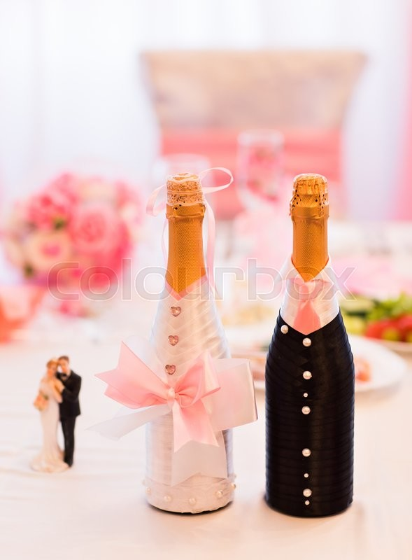 Decorated Champagne Bottles Alluring Champagne Bottles Decoration For Wedding Daywedding Decor Inspiration