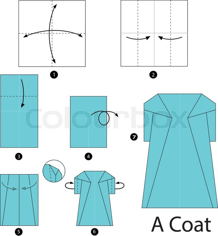 Step By Instructions How To Make Origami A Coat