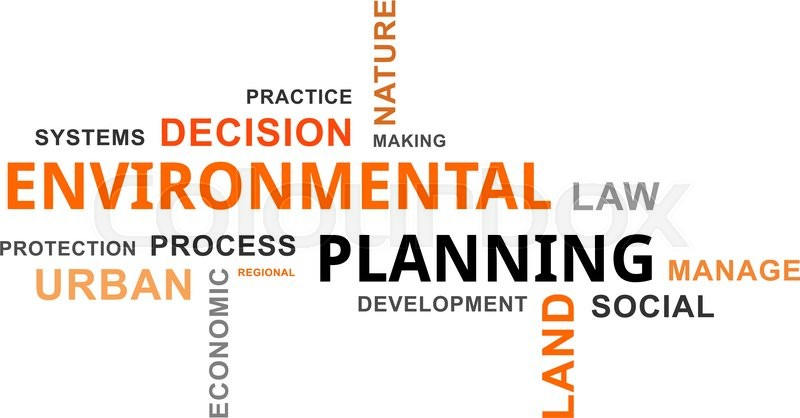 A word cloud of environmental planning ... | Stock vector | Colourbox