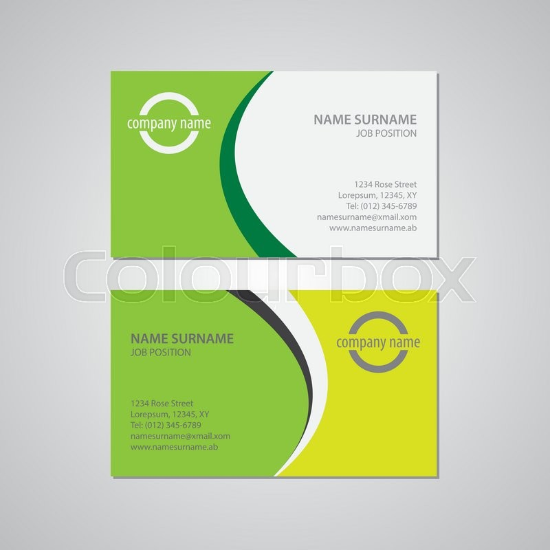 Set of two business cards canada and usa standard 35 x 2 in 88 set of two business cards canada and usa standard 35 x 2 in 889 x 508 mm vector reheart Images