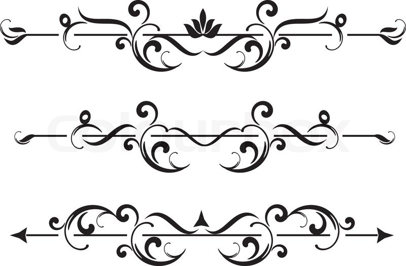 Vintage frame, ornament and element for decoration and design ...