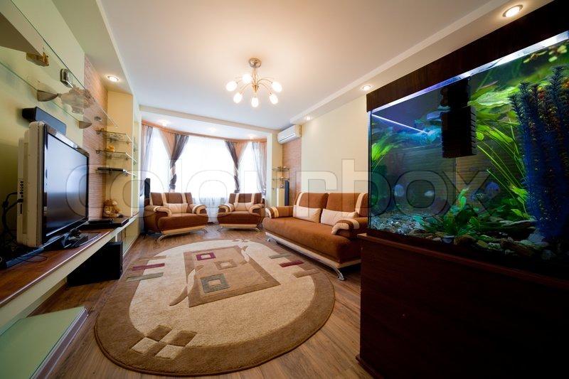 Sch ne aquarium in einem zimmer in moderner wohnung for Meine wohnung click design download