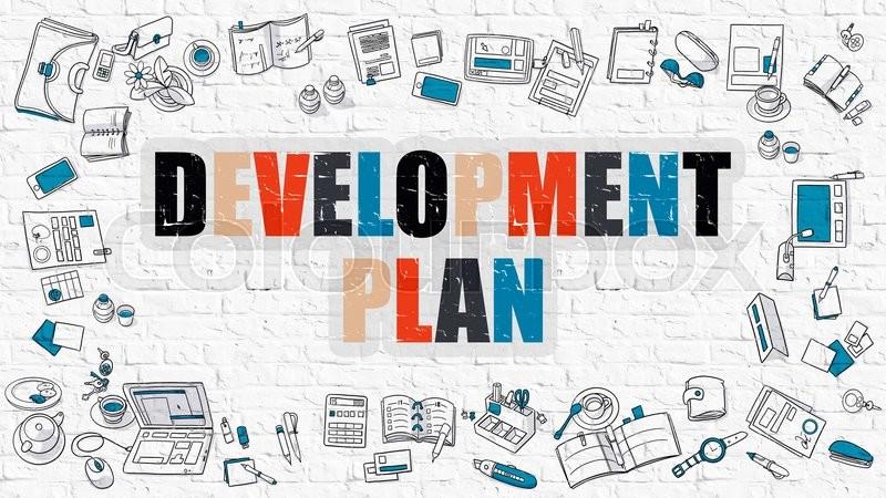 Development Plan. Multicolor ... | Stock image | Colourbox  Development Pla...