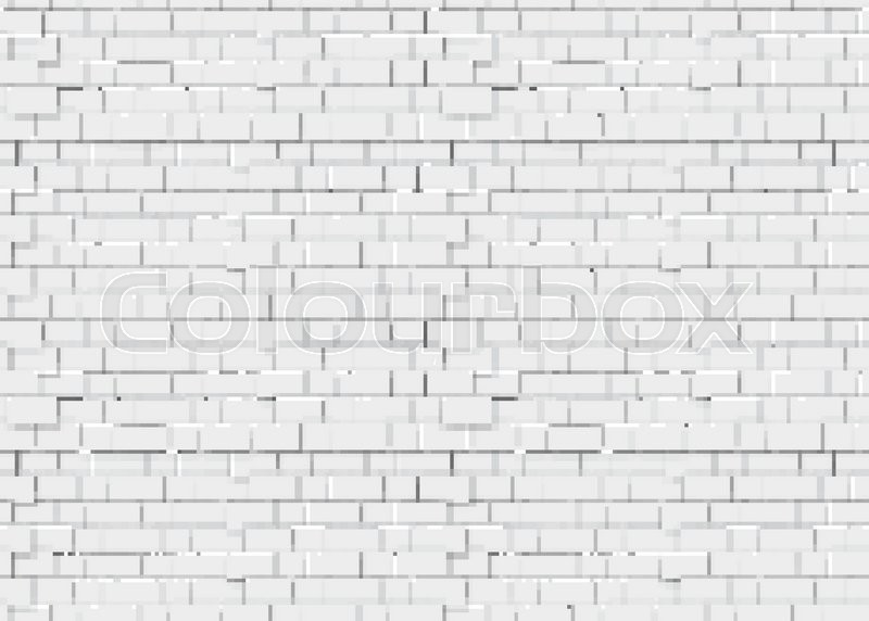 Realistic White Brick Wall 3d Stock Vector Colourbox
