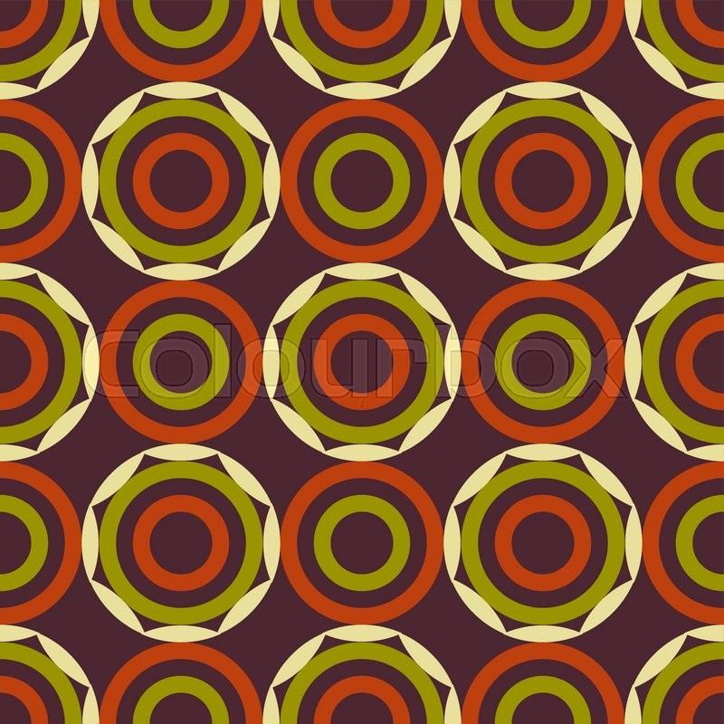 Geometric Vector Pattern In Retro Style Modern Stylish