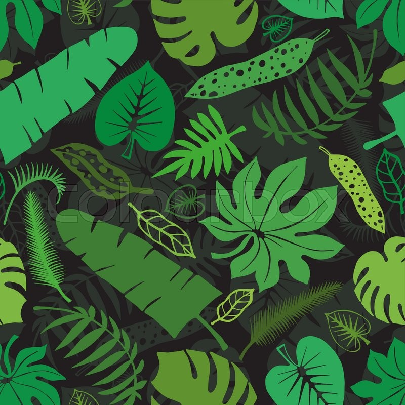 Vector Green Leaf Silhouette Background On WhiteMonstera LeavesTree BranchesExotic Graphic Illustrationtropic Paradise Wallpaperfabric