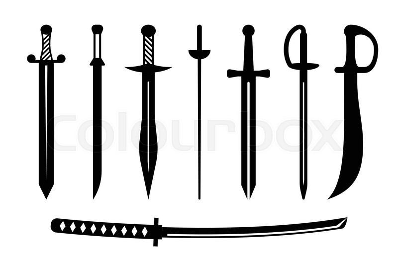 vector sword ancient weapon design stock vector colourbox