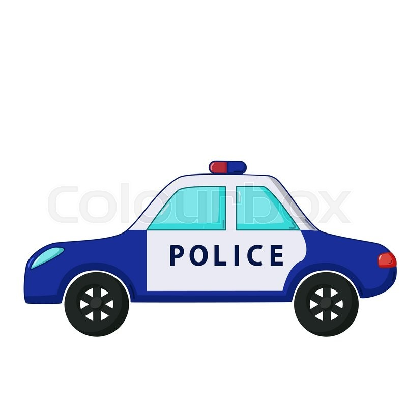 New Police Cars >> Urban transport icon in cartoon style isolated on white background. Police car | Stock Vector ...