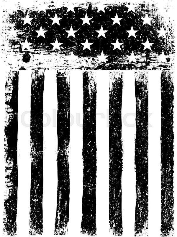 stars and stripes monochrome photocopy american flag background