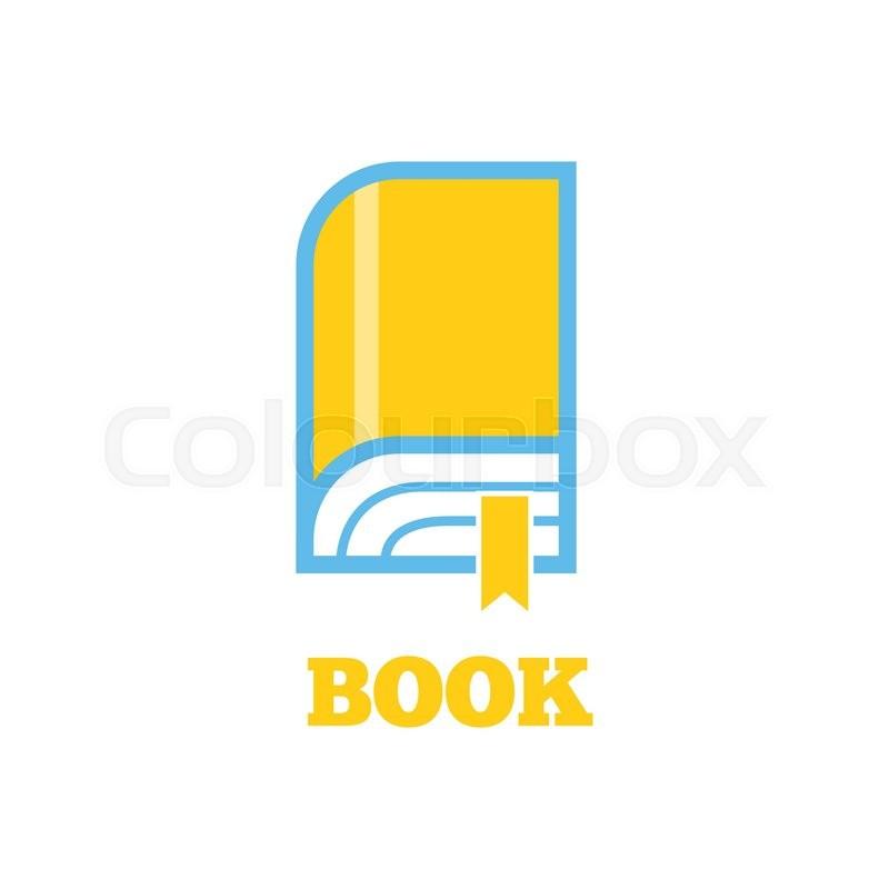 Book Cover Design Logo : New book logo icon flat style design