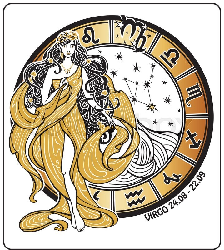 Virgo Zodiac Sign Lovely Female In The Greek Chiton Dress And