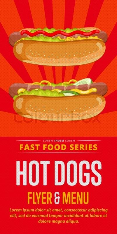 hot dog menu flyer design template template flyer for. Black Bedroom Furniture Sets. Home Design Ideas