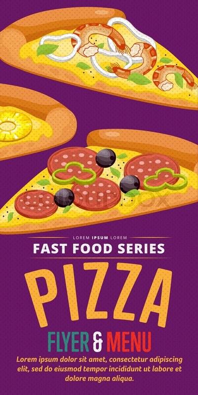 pizza slice menu flyer design template template flyer for fast food