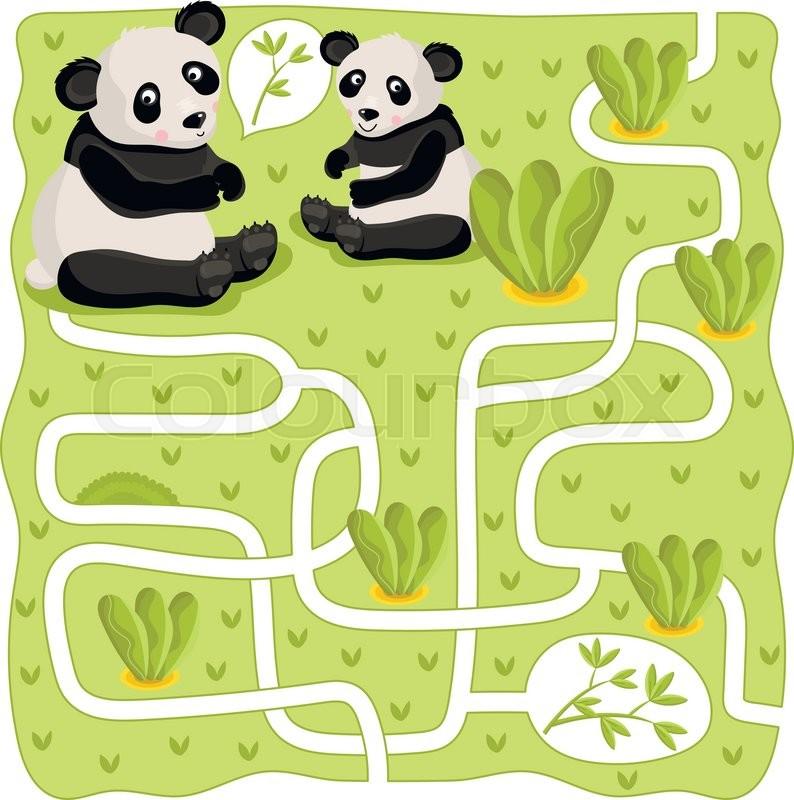 maze vector maze game cartoon maze for kids educational game for