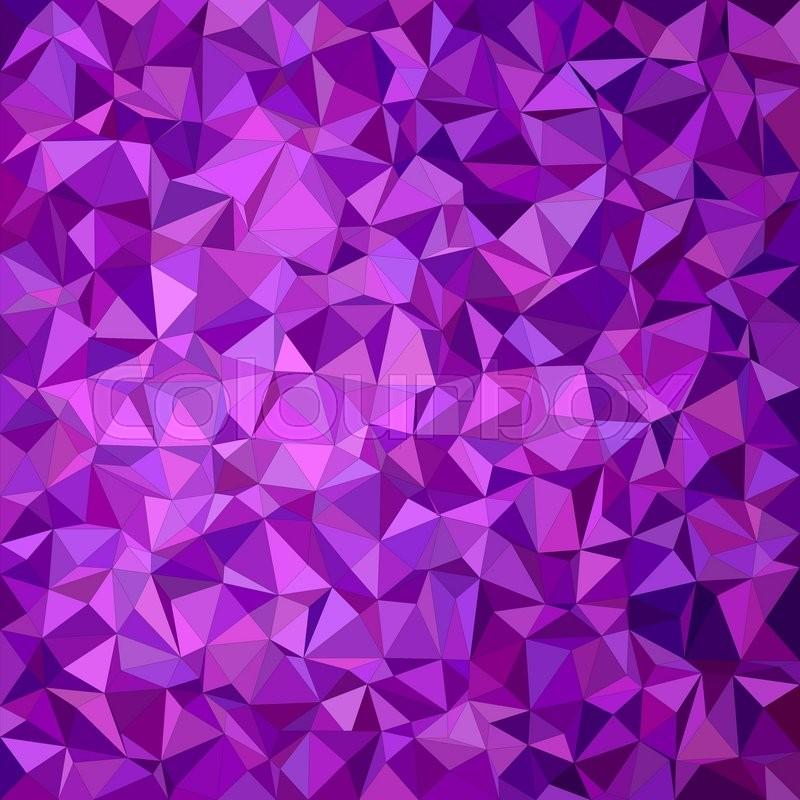 purple irregular triangle mosaic vector background design
